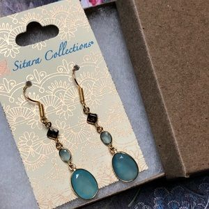 Sitara Collections Jewelry - Gold Plated Chalcedony Earrings